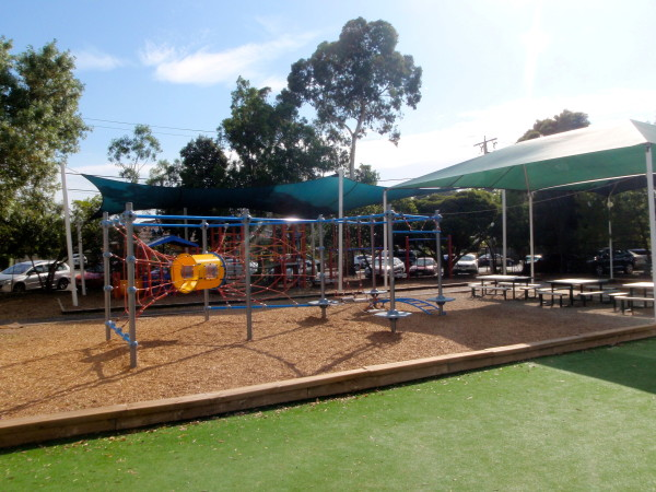 Playground Space & Shaded Sitting Area